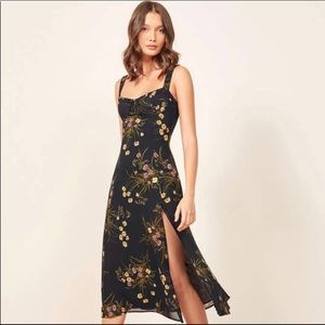 Reformation Peridot dress in Mademoiselle
